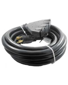 Generac 20-Foot 30-Amp Portable Generator Cord with 4-NEMA 5-20R Outlets  0G5743A